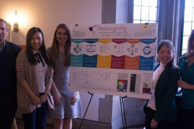 "2016 Poster Session winners for work, ""Redesigning the Mobile User Experience for LINXE Wireless Smart Lighting."""