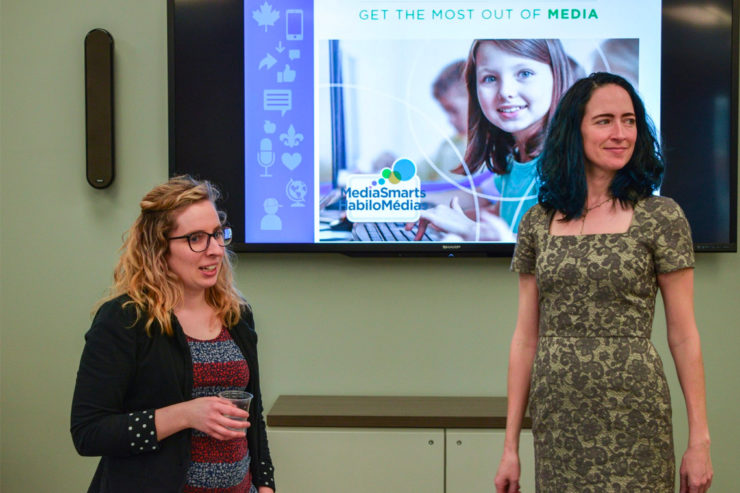 Kara Brisson and Sara Grimes-Cultivating Digital Literacy in Young Canadians event