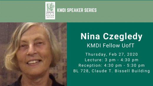 KMDI Speaker series - Nina Czegledy