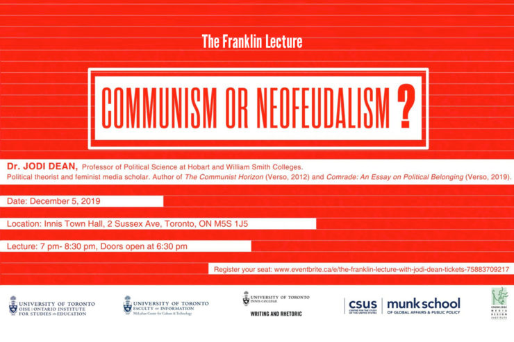 The Franklin Lecture Communism or Neofeudalism event